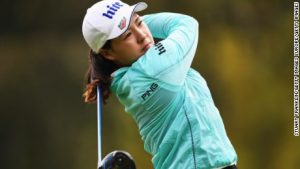 South Koreans share early Evian lead
