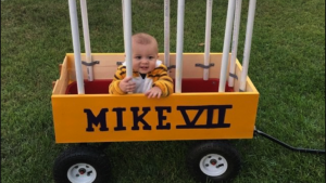 LOOK: Adorable baby wins Halloween with Mike the Tiger costume — cage and all