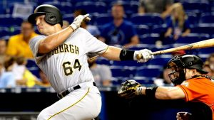 Catcher goes Single A to Pirates in one day
