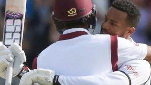 England v West Indies: Kraigg Brathwaite and Shai Hope star on day two