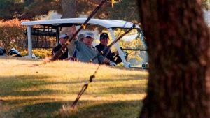Trump plays golf with Japanese hero Matsuyama