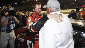Dale Earnhardt Jr. closes his full-time NASCAR career with an impromptu pit party