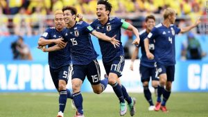 Japan seals historic win over 10-man Colombia