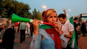 Iranian women celebrate landmark moment