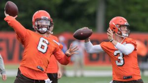 Baker Mayfield apparently did not look ready to compete for the Browns starting QB job