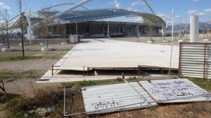 Athletics halted after Greek cuts